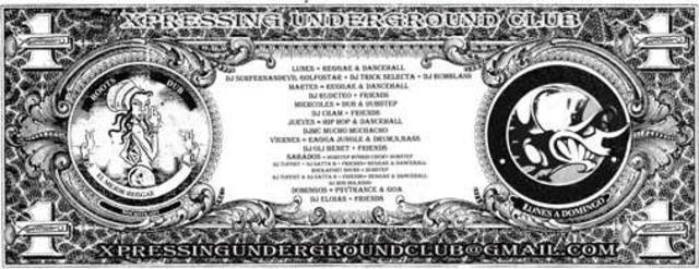 Party Flyer RETURN TO GOA (Dj's: JULITO, TRAST1 & ELOIAS) 10 Jan '10, 22:00