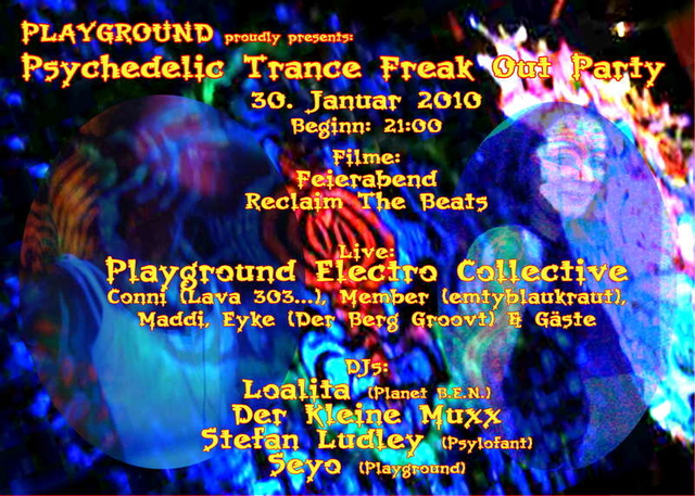 Party Flyer Playground Party 30 Jan '10, 21:00