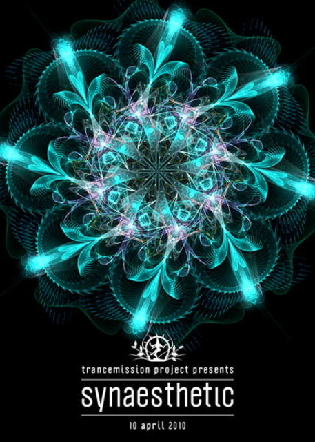 Party Flyer Synaesthetic - Trancemission project 10 Apr '10, 23:00