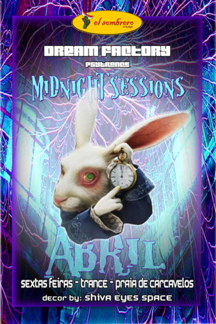 Party Flyer DREAM FACTORY EM ABRIL MIDNIGHT SESSIONS @ EL SOMBRERO 16 Apr '10, 23:30