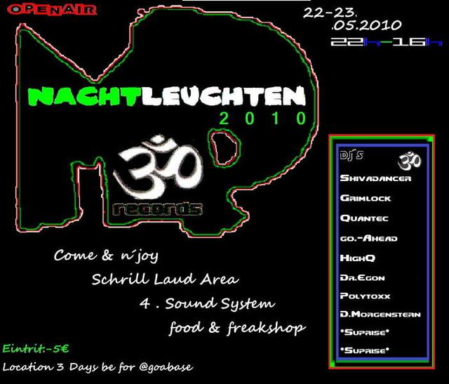 Party Flyer NachTLeuchten2010 22 May '10, 22:00