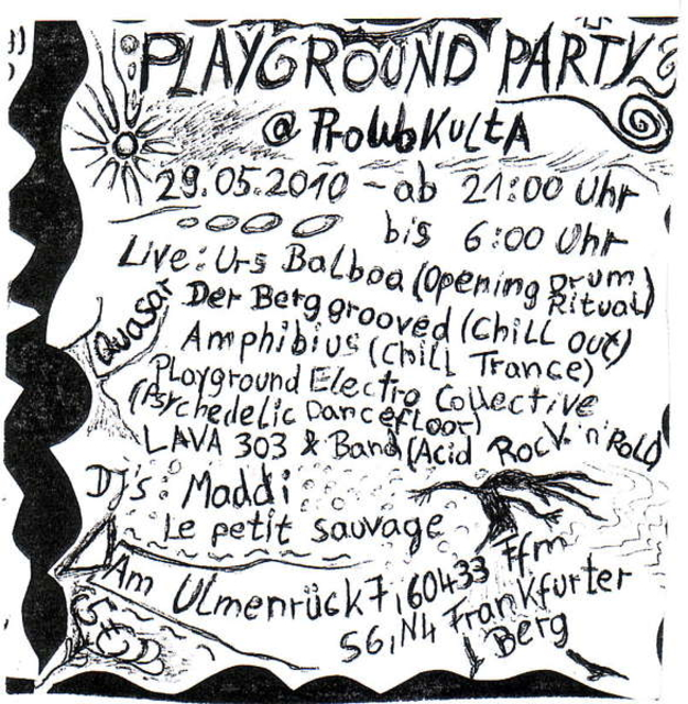 Party Flyer Playground Party 29 May '10, 21:00