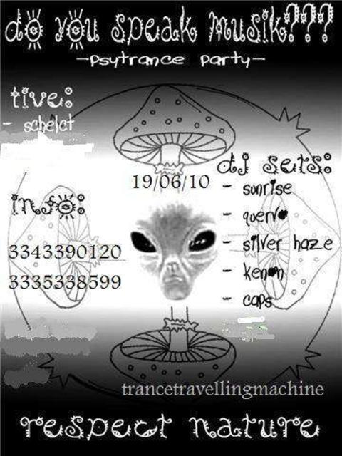 Party Flyer do you speak music? 19 Jun '10, 22:00