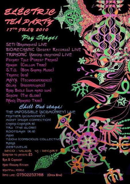 Party Flyer Electric tea party 17 Jul '10, 22:00