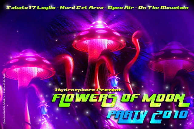 Party Flyer FLOWERS OF MOON PARTY 2010 - 5th edition - BIOKINETIX Live ! 17 Jul '10, 23:00