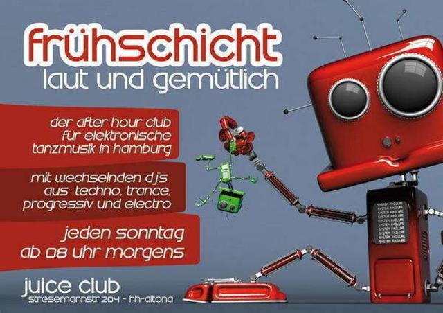 Party Flyer Frühschicht laut & gemütlich 18 Jul '10, 08:00