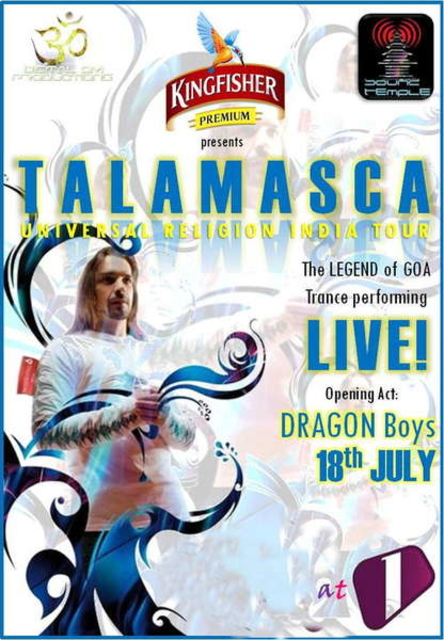 Party Flyer -<TALAMASCA>- India Tour July 2010 18 Jul '10, 18:30