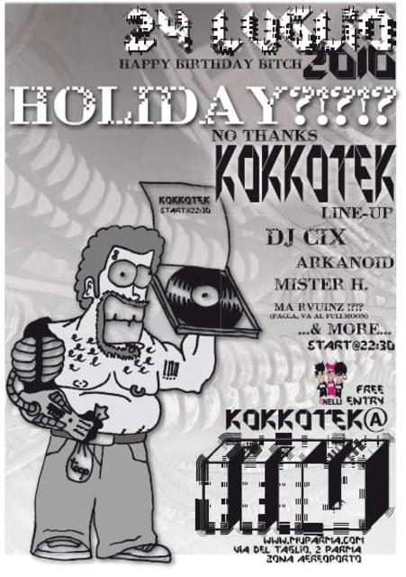 Party Flyer !! KOKKOTEK !! -----FREE PARTY----- 24 Jul '10, 22:00