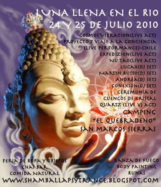 Party Flyer Luna Llena En El Rio 24 Jul '10, 22:30