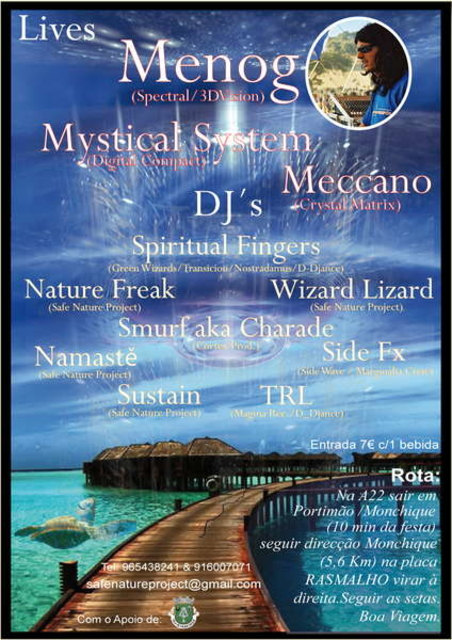 """Party Flyer Safe Nature Project - """"Protection of Natural Resources II"""" 24 Jul '10, 23:00"""