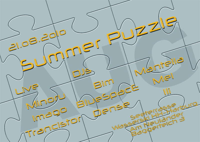 Party Flyer Summer Puzzle 21 Aug '10, 19:00