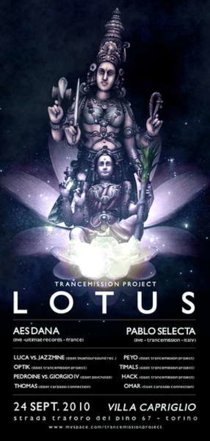 Party Flyer LoTuS - Trancemission project 24 Sep '10, 19:00