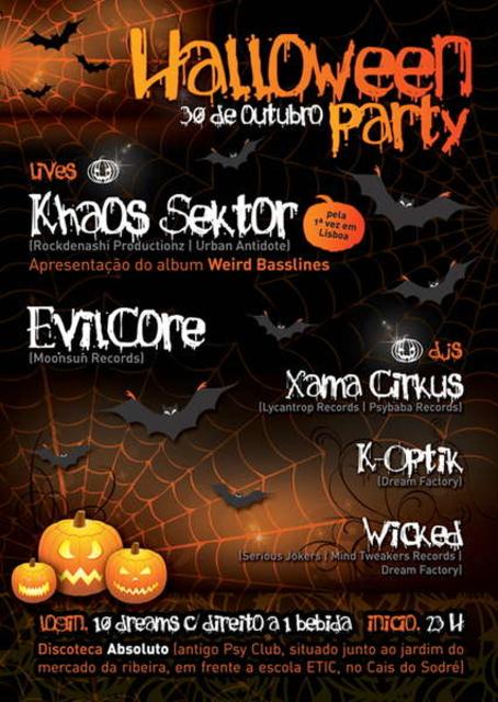 Party Flyer DREAM FACTORY [[ Halloween Party ]] 30 de Outubro @ Absoluto 30 Oct '10, 23:30