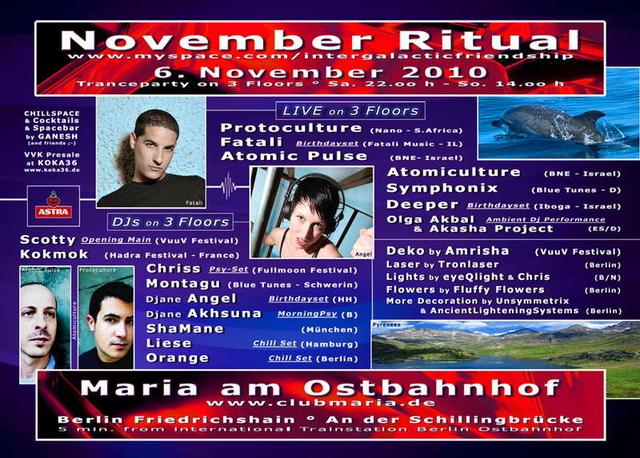 Party Flyer NOVEMBER RITUAL 2010 - Last one at Maria! 6 Nov '10, 22:00