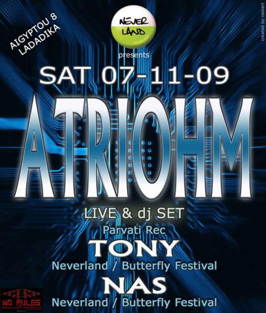 Party Flyer ATRIOHM 7 Nov '09, 23:30