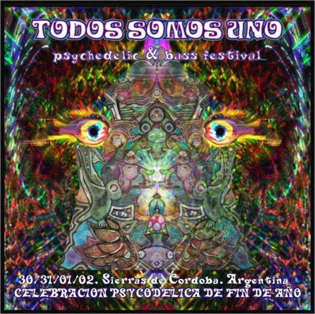 Party Flyer Todos Somos Uno - New Year´s Eve Psytrace Festival 30 Dec '10, 16:00
