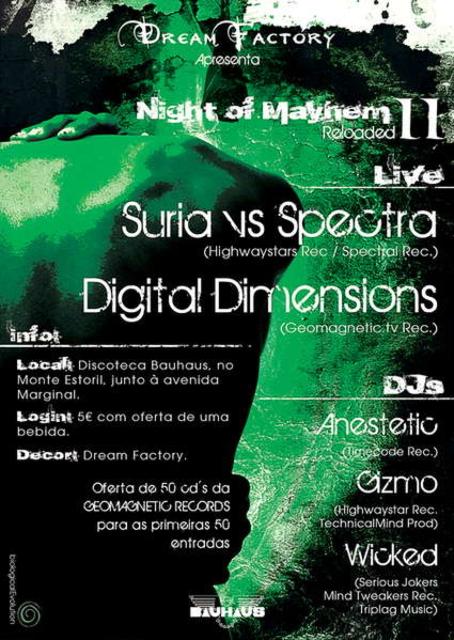 Party Flyer DREAM FACTORY: NIGHT OF MAYHEM II Reloaded DISCOTECA BAUHAUS 11 Mar '11, 23:30