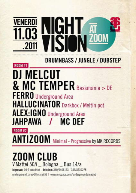 Party Flyer NIGHT VISION 11 Mar '11, 23:00