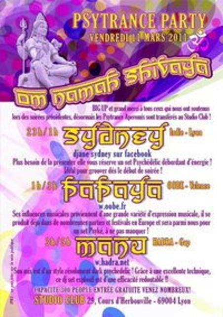 Party Flyer Om Namah Shivaya 11 Mar '11, 23:00