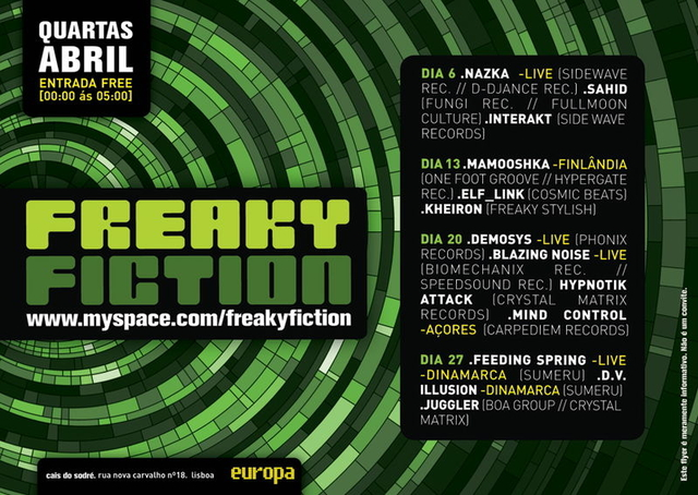 Party Flyer Freaky Fiction 6 Apr '11, 23:30
