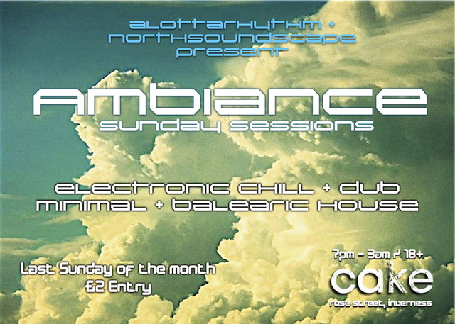 Party Flyer AMBIANCE - electronic chill + dub + minimal 24 Apr '11, 19:00
