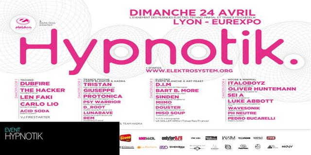 Party Flyer Hypnotik 24 Apr '11, 22:00