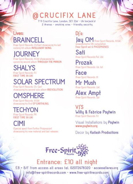 Party Flyer IMPLOSION & FREE-SPIRIT RECORDS LABEL PARTY - Sun 24th Apri 24 Apr '11, 22:00
