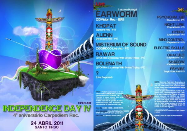 Party Flyer INDEPENDENCE_DAY_IV BY EARWORM:KHOPAT:ALIENN 24 Apr '11, 23:00