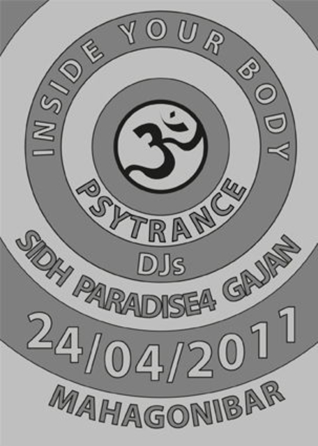 Party Flyer INSIDE YOUR BODY 24 Apr '11, 22:00