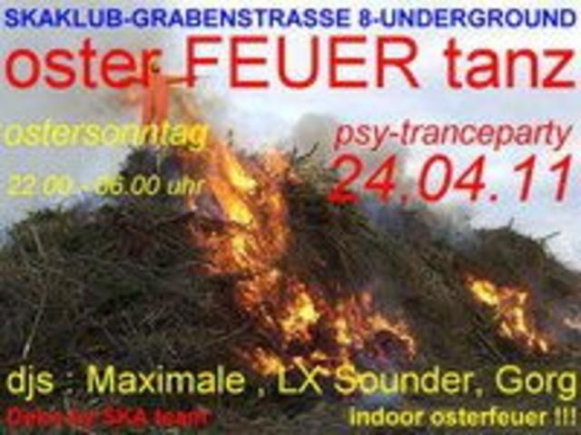 Party Flyer Osterfeuertanz 24 Apr '11, 22:00