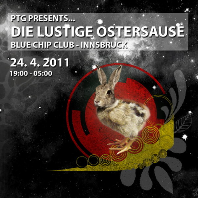 """Party Flyer PTG presents---Die lustige Ostersause """"Materia Live"""" 24 Apr '11, 19:00"""
