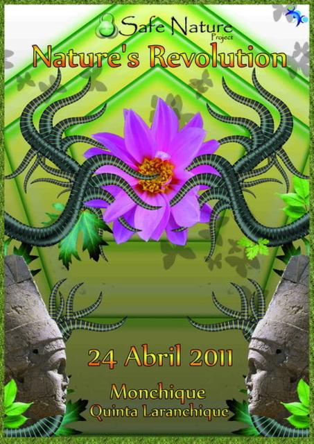 "Party Flyer Safe Nature Project apresenta ""Nature's Revolution"" 24 Apr '11, 23:30"