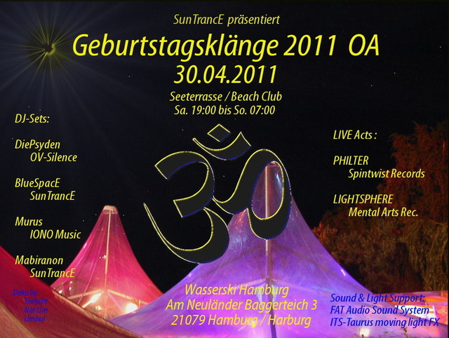 Party Flyer Geburtstagsklänge 2011 30 Apr '11, 19:00