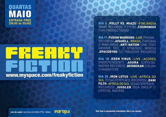 Party Flyer Freaky Fiction 4 May '11, 23:30