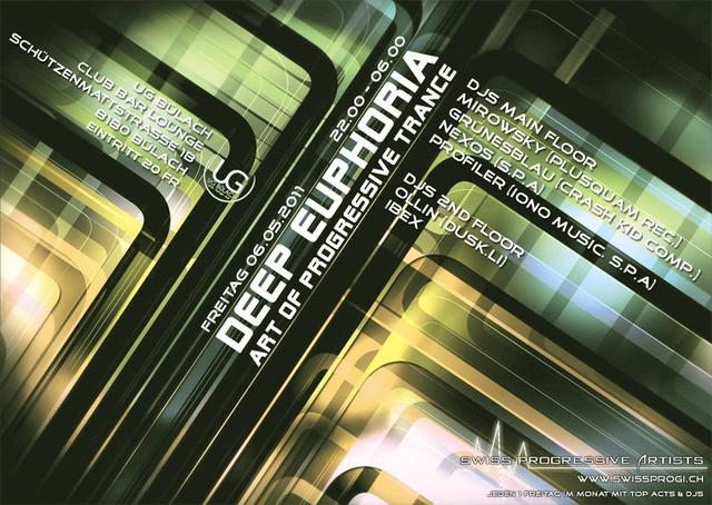 """Party Flyer DEEP EUPHORIA """"Mai Edition"""" UG Bülach 6 May '11, 22:00"""