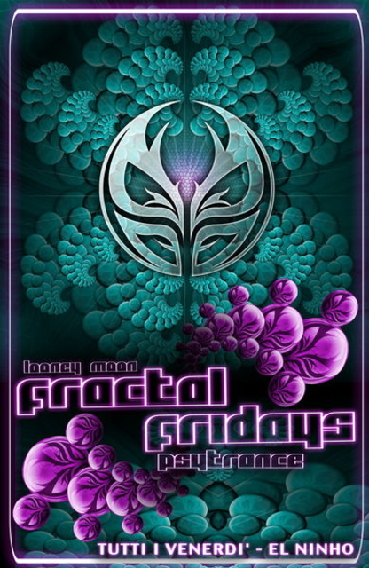 Party Flyer FRACTAL FRIDAYS - Looney Moon Party - 6 May '11, 23:00