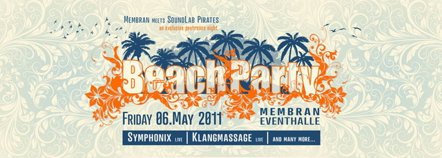 Party Flyer MEMBRAN BEACH PARTY meets SOUNDLAB PIRATES 6 May '11, 22:00