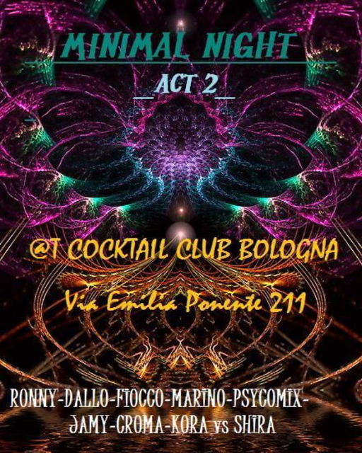 Party Flyer _- MINIMAL NIGHT-_ act 2 6 May '11, 22:00