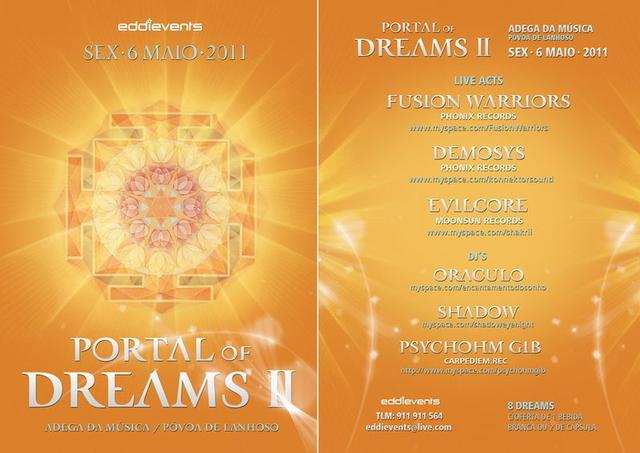 Party Flyer PORTAL OF DREAMS II 6 May '11, 23:30