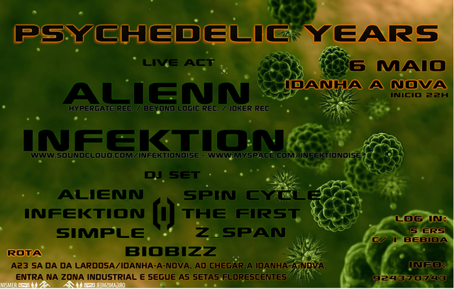 Party Flyer Psychedelic Years 6 May '11, 22:30