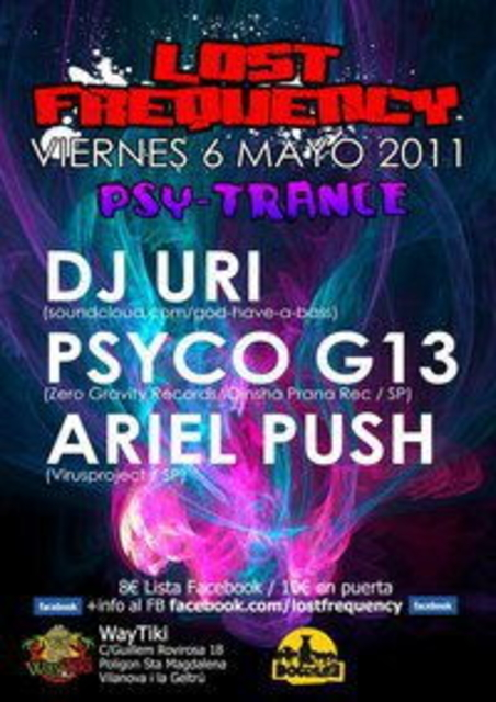"""Party Flyer WAYTIKI disco """"SPECIAL NIGHT"""" Presenta: Lost Frequency > PSY 6 May '11, 23:30"""