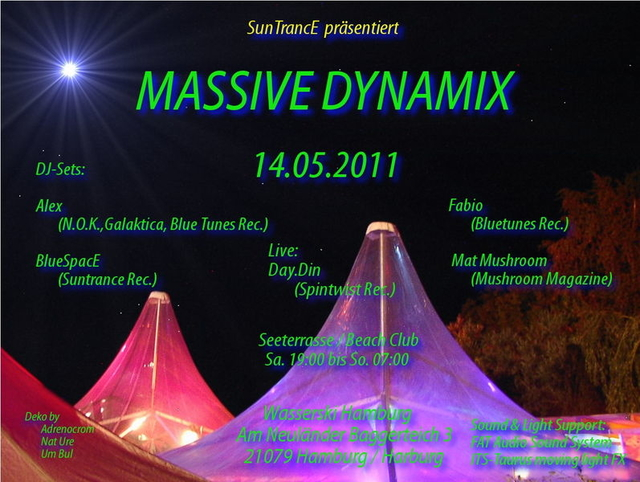 Party Flyer Massive Dynamix 14 May '11, 19:00
