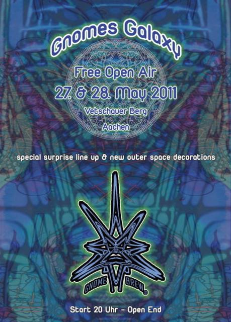 Party Flyer GNOMES GALAXY - FREE OA 27 May '11, 20:00