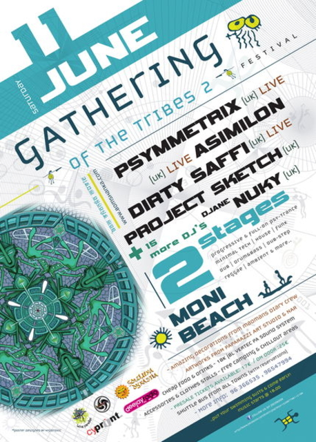 Party Flyer GATHERING OF THE TRIBES 2 MUSIC FESTIVAL - 2 Stages 11 Jun '11, 18:30