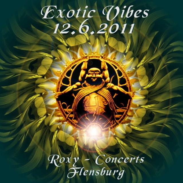 Party Flyer EXOTIC VIBES finest progressive psy trance 12 Jun '11, 23:00