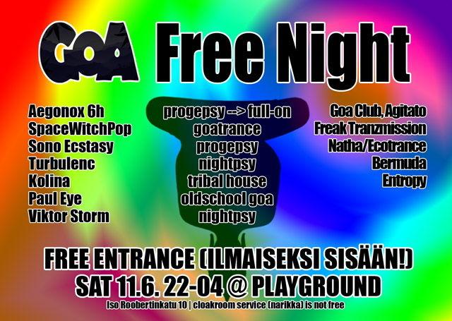 Party Flyer Goa Free Night 12 Jun '11, 22:00