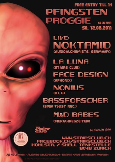 Party Flyer Pfingsten Proggie mit Noktamid at Stairs 12 Jun '11, 23:00