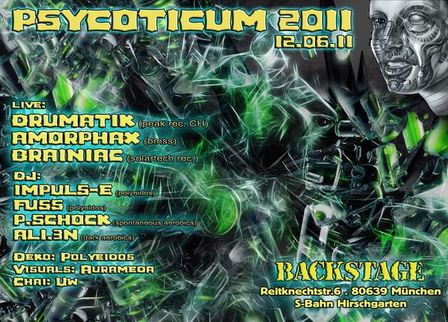 Party Flyer PSYCOTICUM 2011 12 Jun '11, 22:00