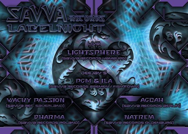 Party Flyer Savva Records Label Night 12 Jun '11, 21:00