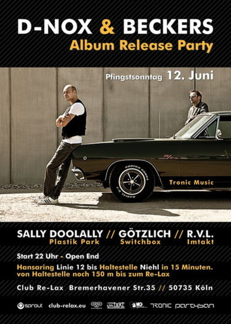 Party Flyer ***''Techno Con Carne'' feat. D-Nox & Beckers*** 12 Jun '11, 22:00